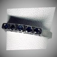 Vintage Silver and Sapphire Ring and Earrings