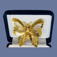 1960s Signed Monet Butterfly Brooch - Menagerie