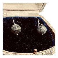 Rutilated Rock Black Quartz Sterling Earrings