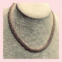 Sophisticated French Mesh 18K Vermeil Chain Bracelet by Pierre Lorion Sylvia Karels Paris