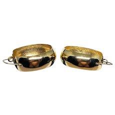 ESTATE: Lovely Pair of Vintage 14K Yellow Gold Hoop Earrings