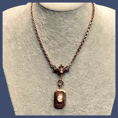 Cameo Bookchain with Cameo Locket Necklace