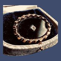Victorian Oval Onyx Brooch