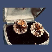 Vintage Gold-filled and Cultured Pearl Pierced Earrings