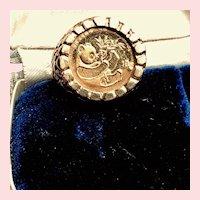 1984 Panda Coin 1/20th Oz 999 Fine Gold in 14K Gold Setting
