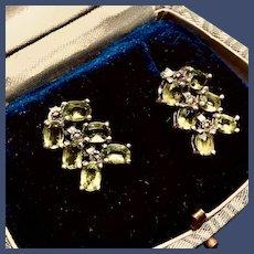 Articulated Peridot Sterling Earrings