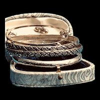 4. Silver Bangles