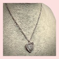 Ornate Sterling Silver Heart Necklace