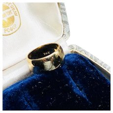 Wide Band 14K Gold Band Wedding Ring