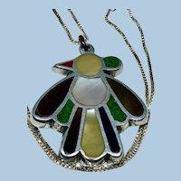 Native American Zuni Thunderbird Pendant with Chain