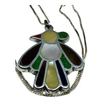 Native American Zuni Thunderbird Pendant with Chain