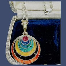 Bohemian Chakra Multi-Stone Sterling Pendant Necklace