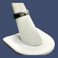 14KP White Gold Size 6 Wedding Band Ring 4.1 grams