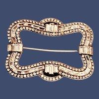 Knoll Pregizer Art Deco Paste Sterling German Brooch