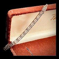 White Gold Art Deco Bracelet 14k Filigree