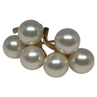 ESTATE: Vintage and Special Natural 3-Pearl Pierced Earrings