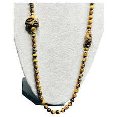 The Tortoise and the Hare Tigers Eye and GF Beads
