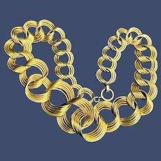 Gorgeous Retro 12K GF Circle Necklace - 1950s
