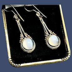 Lovely Moonstone Sterling Silver Earrings