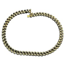 14K Solid Yellow Gold Double Wheat Necklace