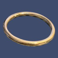 Sterling Hollow Tube Bangle