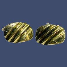 Vintage Vermeil 14K Gold on 830 Silver Cufflinks - Traditional