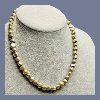 Gorgeous Champagne Freshwater Baroque Pearl Necklace