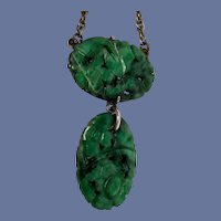 ESTATE: Art Deco Chinese Asian Art Jadeite Necklace