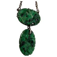 ESTATE: Art Deco Chinese Asian Art Jadeite Necklace