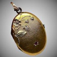 Art Nouveau Gold Oval Locket