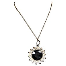 Victorian Carnelian Intaglio Watch Fob Pendant Necklace