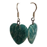 Perfectly Shaped Heart Earrings Gorgeous Amazonite