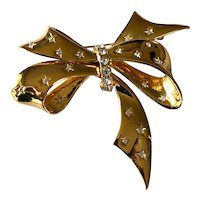 1980s Joan Rivers Signed Bow Brooch