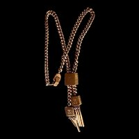 Mid-century Signed Sperry Tassels Slide Necklace