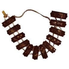Exquisite Vintage Japanese Damascene Bracelet