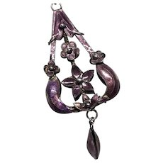Art Nouveau Sterling & Enamel Necklace