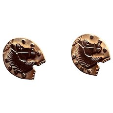 Vintage Horsehead Cuffbuttons or Dress Shirt Buttons