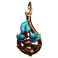 Victorian 14k Gold Enamel and Pearl Earrings
