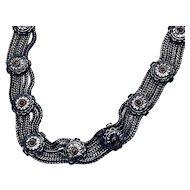 Vintage Silver Nickel Necklace with Conchos