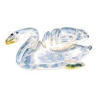 1930s Lucite Swan Brooch