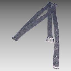 1940s Silver Mesh Belt