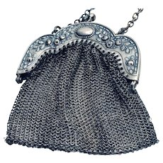 Antique German Silver Purse