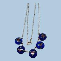 Boho Art Glass Dangle Necklace