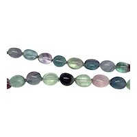 Estate: Colorful Multiple Gemstones Oval Bead Necklace