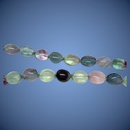 Estate: Colorful Multiple Gemstones Oval Bead Necklace