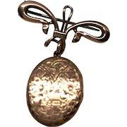 Vintage 9K Rose Gold Locket and Pin/Brooch