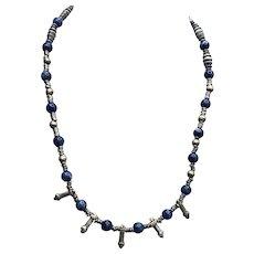 Vintage Silver Sodalite Ethnic-Boho Necklace