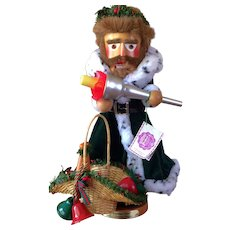 Very Large Limited Edition Signed German Nutcracker: Spirit of Christmas Present Nutcracker