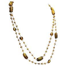 Art Deco Venetian Glass Bead Flapper Necklace