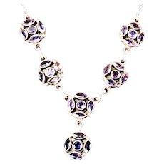 Sterling Amethyst Gemstone Chain 17-inch Necklace